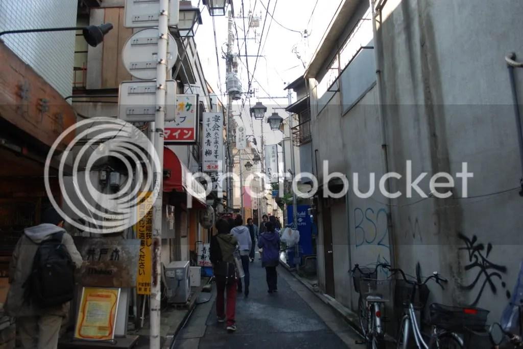 Looking down a side street
