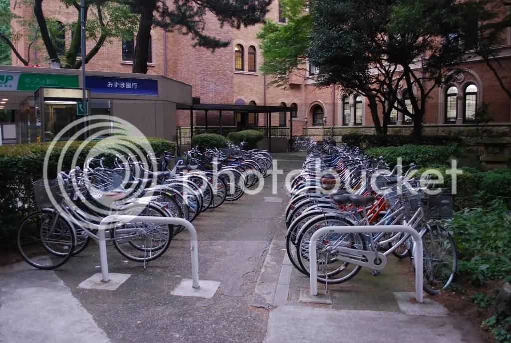 As always, lots of bicycles.