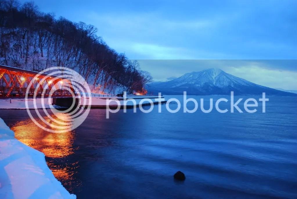 The bridge at Lake Shikotsu