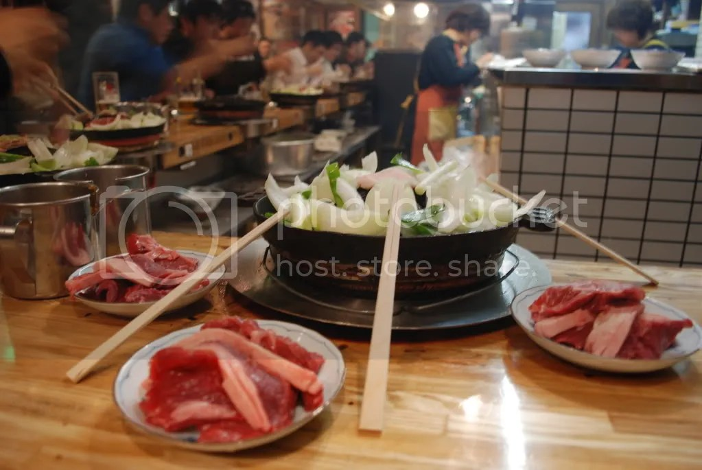 This Hokkaido specialty has you cooks lamb on a hot plate in front of you. Lamb is not at all common in Japan. It would be hard to find in Tokyo, but apparently its more plentiful in Hokkaido. The lamb we ate was delicious and not too expensive either.