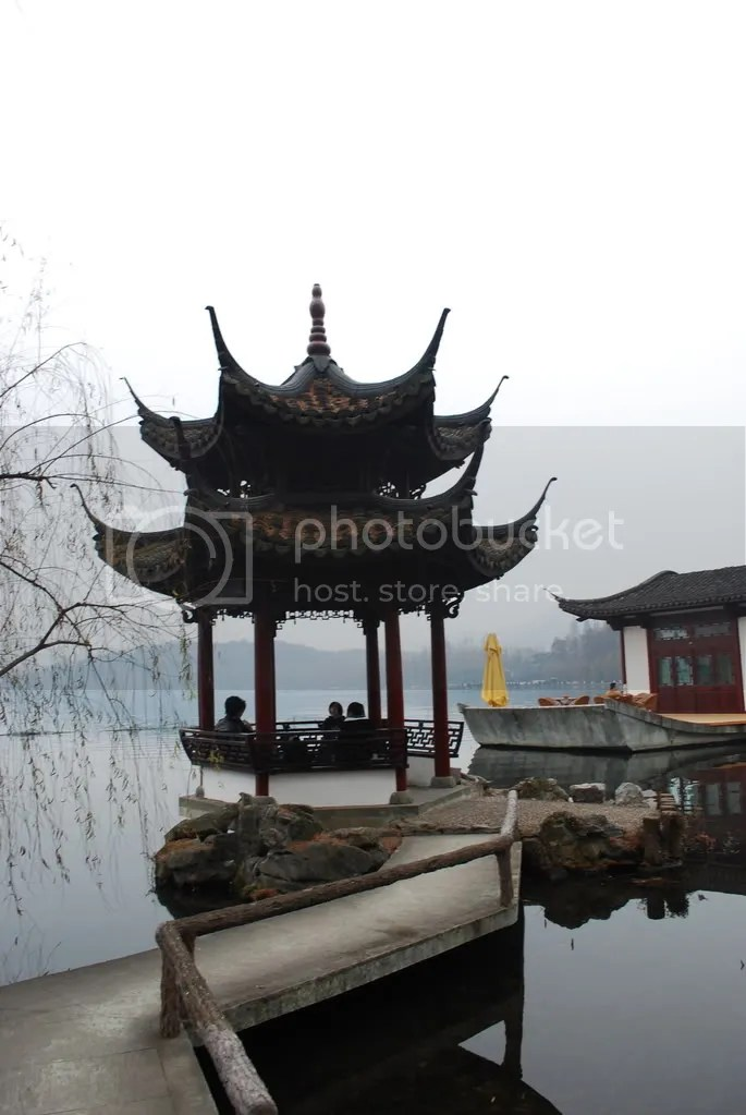 A gazebo on West Lake