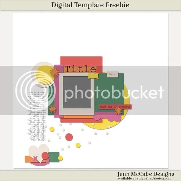 Jenn McCabe Digital Scrapbook Template Freebie
