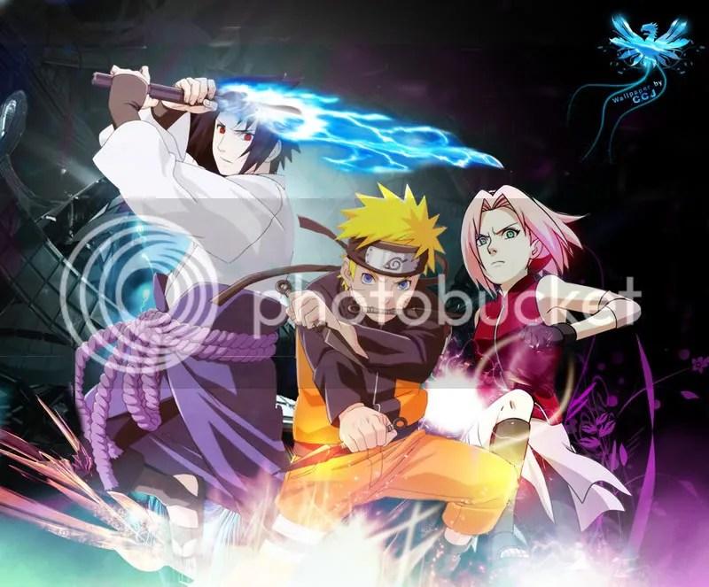 Sasuke, Naruto y Sakura