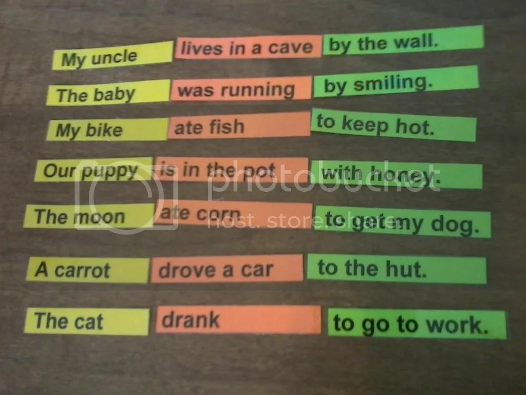 Dk Games Silly Sentences Instruction Sheet
