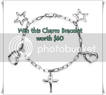 blue steel charm bracelet