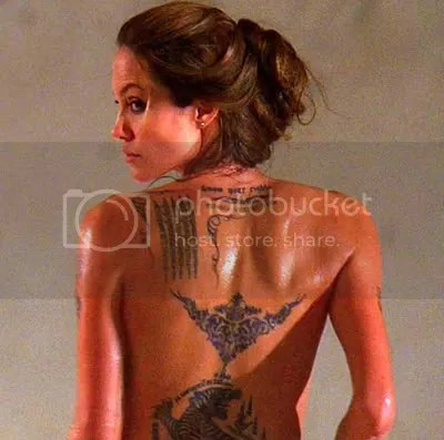 angelina jolie tattoo. Angelina Jolie?