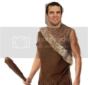 Toby Petersen will show off his tough man skills as a caveman