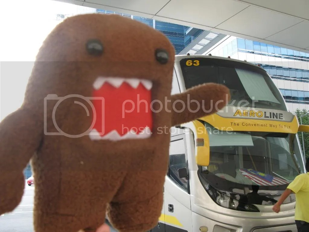 Domokun approves of Aeroline. Yes, we got the whole bus to ourselves!