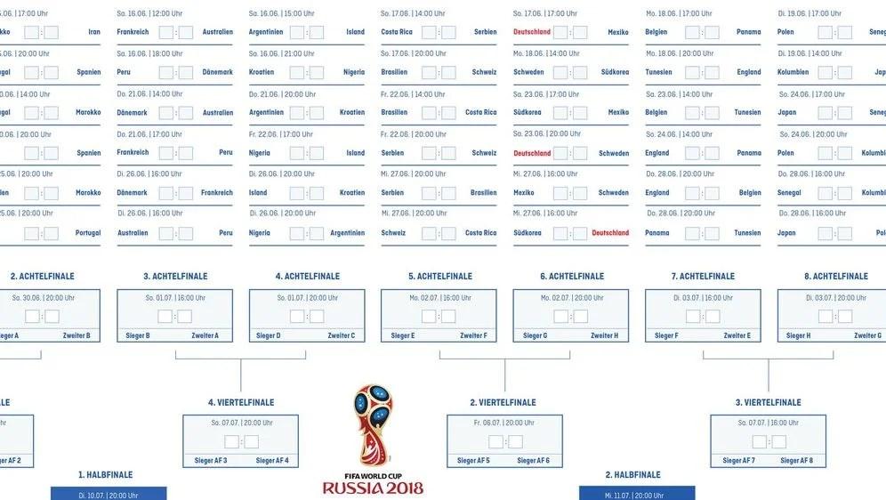 wm 2018 russland spielplan