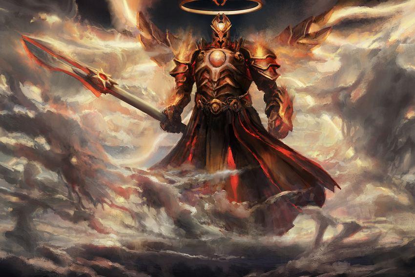 勇氣與無畏的代表!至高大天使英普瑞斯插畫 —17173暗黑破壞神3游戲專區