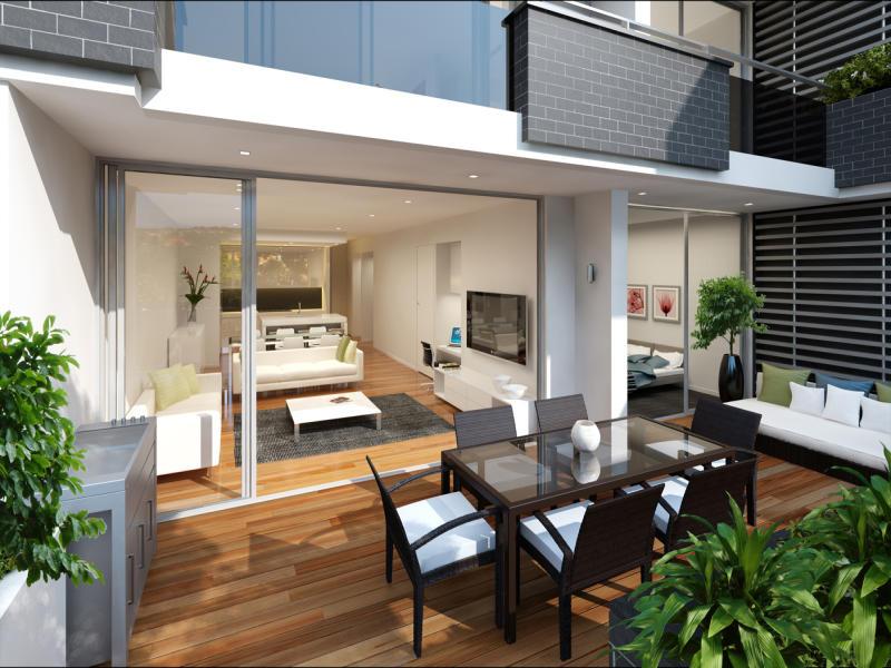 Indoor-outdoor outdoor living design with deck ... on Fancy Outdoor Living id=41762
