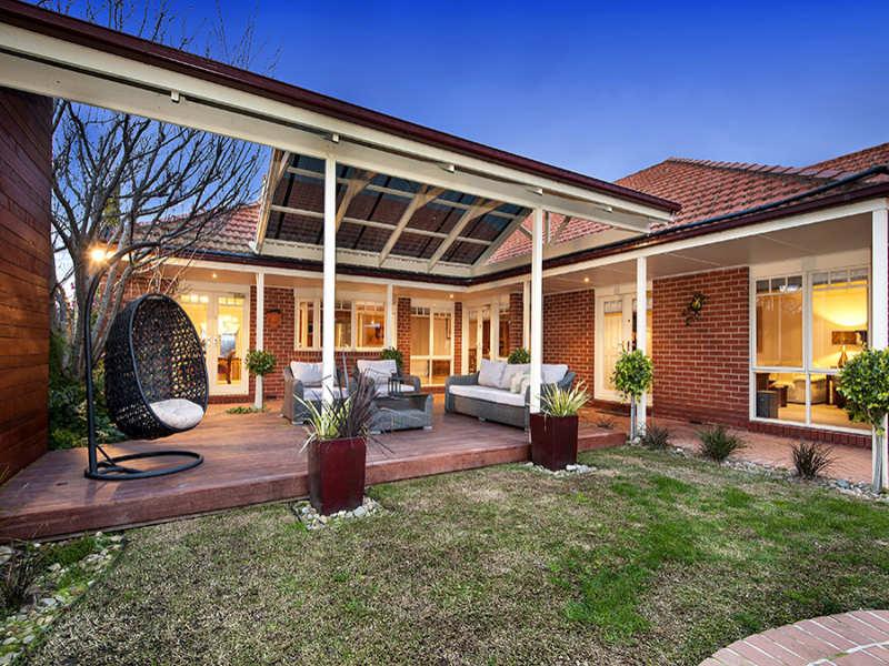 Indoor-outdoor outdoor living design with pergola ... on Fancy Outdoor Living id=13507