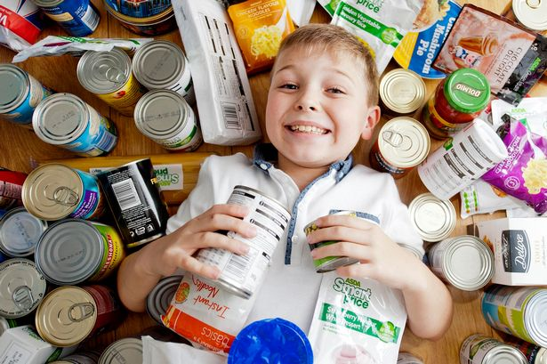 Ethan Edwards has asked all his family to give donations of food for Birmingham Central Foodbank
