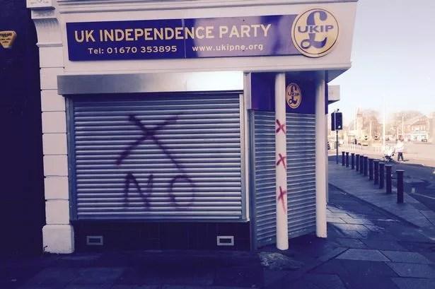 UKIP's Blyth headquarters vandalised a second time