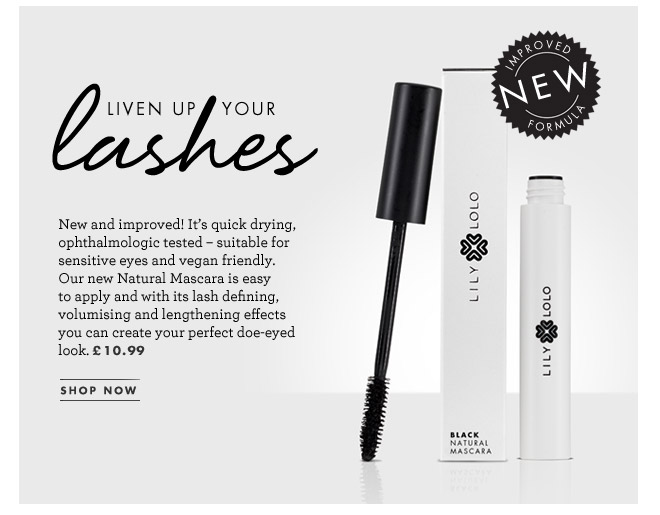New and improved! It's quick drying, ophthalmologic tested – suitable for sensitive eyes and vegan friendly. Our new Natural Mascara is easy to apply and with its lash defining, volumising and lengthening effects you can create your perfect doe-eyed look. £10.99. SHOP NOW