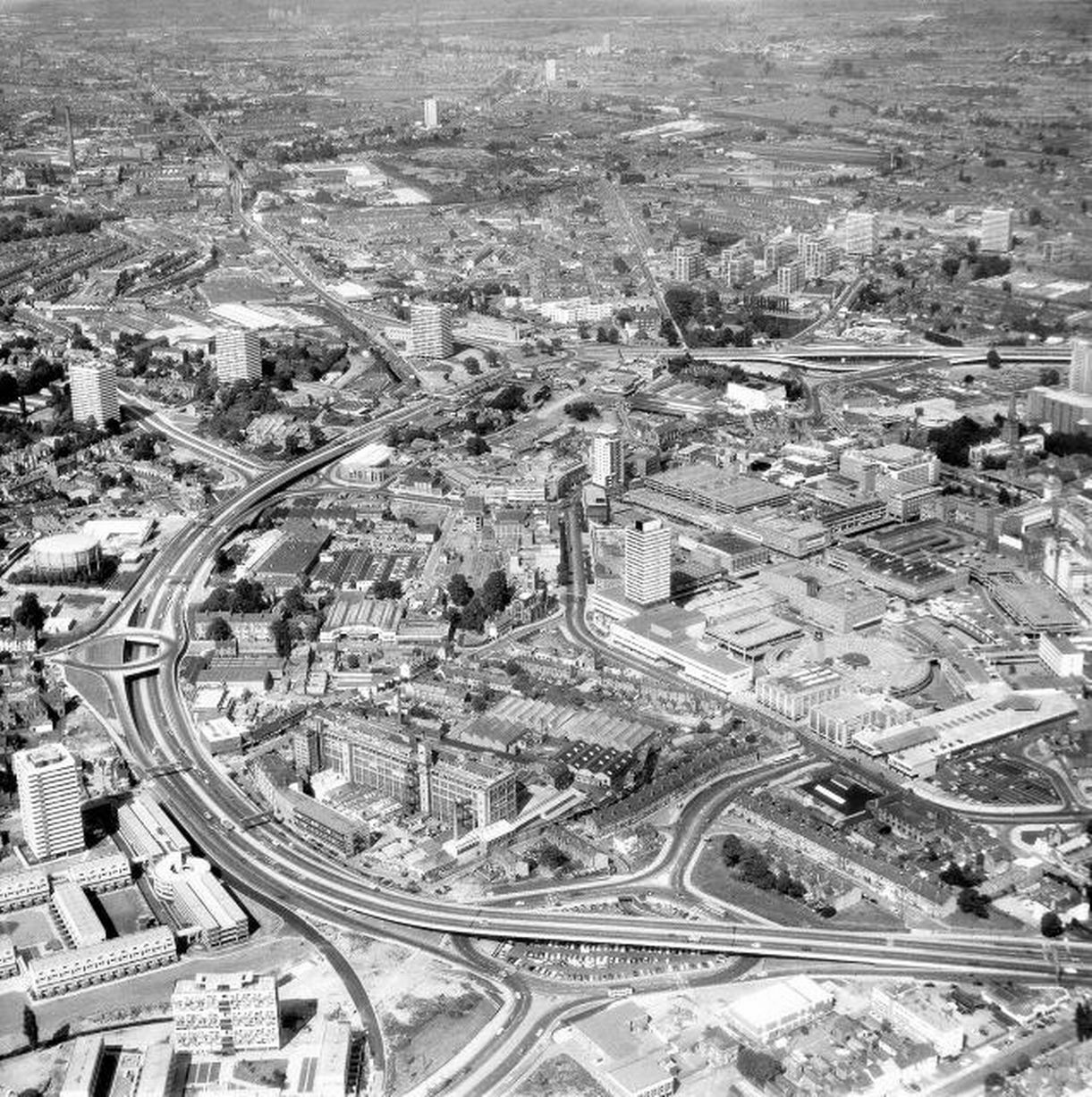 Coventry's ring road in June 1970