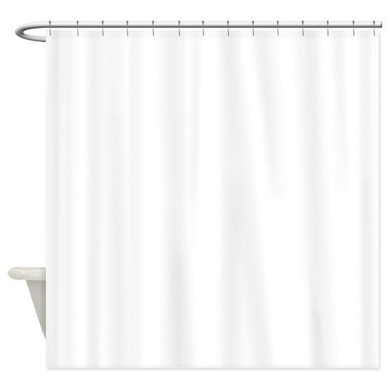 ghost giraffe cartoon shower curtain