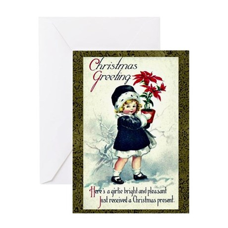 Old Fashioned Christmas Greeting Greeting Card By Listing