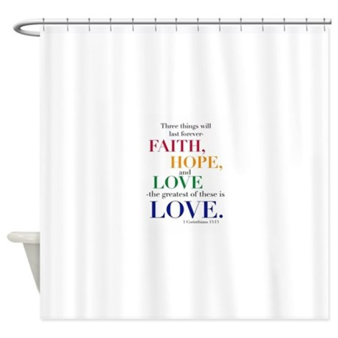 Inspirational Erfly Word Wings Shower Curtain