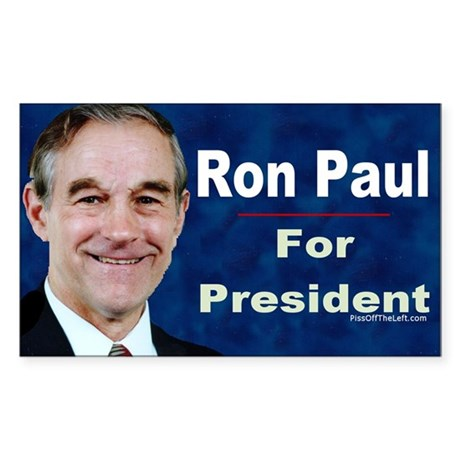 Ron Paul for President Rectangle Decal by pissofftheleft