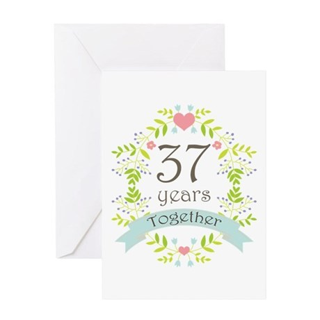 37th Wedding Anniversary Greeting Cards | Card Ideas ...