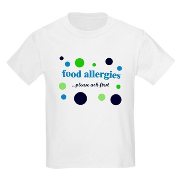 Food Allergy Awareness T Shirts, Shirts & Tees | Custom Food Allergy ...