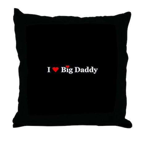 I Heart Big Daddy Throw Pillow