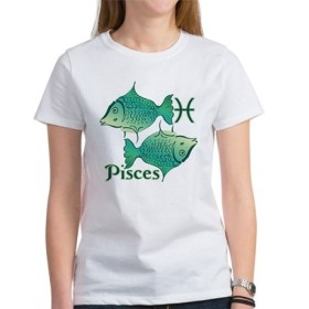 Zodiac Sign Pisces Symbol Women's T-Shirt