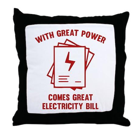 Power Responsibility Pillows, Power Responsibility Throw ...
