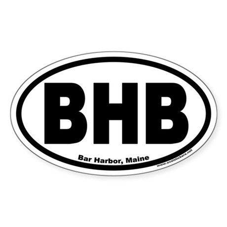Bar Harbor, Maine BHB Oval Decal by ovalstickers
