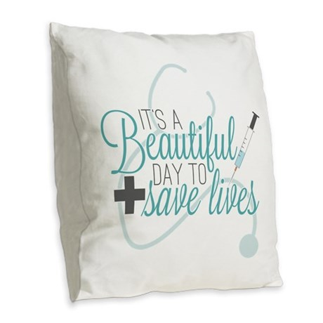 Greys Anatomy Beautiful Day Burlap Throw Pillow by ...