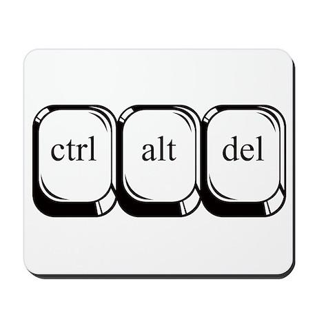 Ctrl Alt Del Mousepad by danimalsden