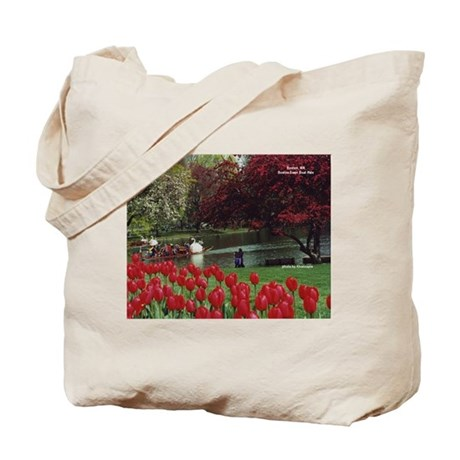 Swan Boats in Spring - Tote Bag