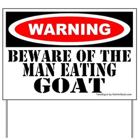 Beware Man Eating Goat Yard Sign Gt Goat Yard Signs Gt MORE