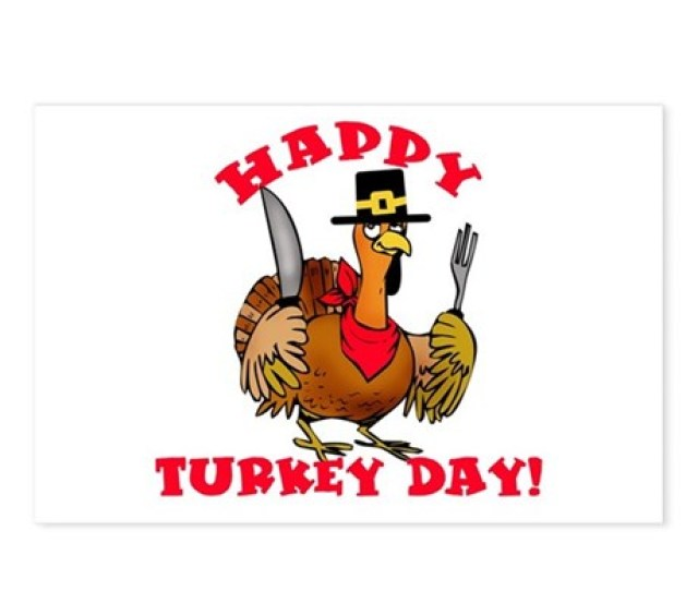 Happy Turkey Day Postcards Package Of