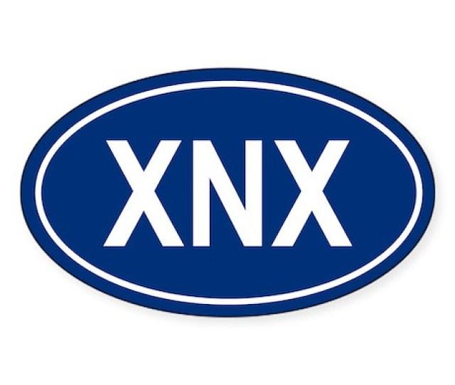 Xnx Oval Sticker