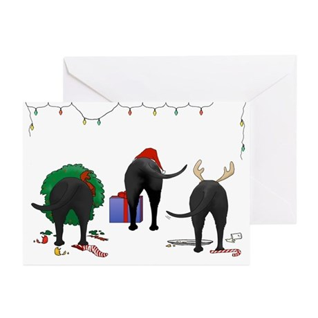 Black Labrador Christmas Cards Pk Of 10 By Nothinbuttdogs
