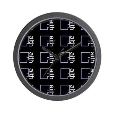 BY FAITH (BLACK) WALL CLOCK