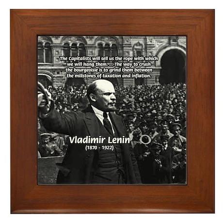 Vladimir Lenin Revolution Framed Tile by philosophy_shop
