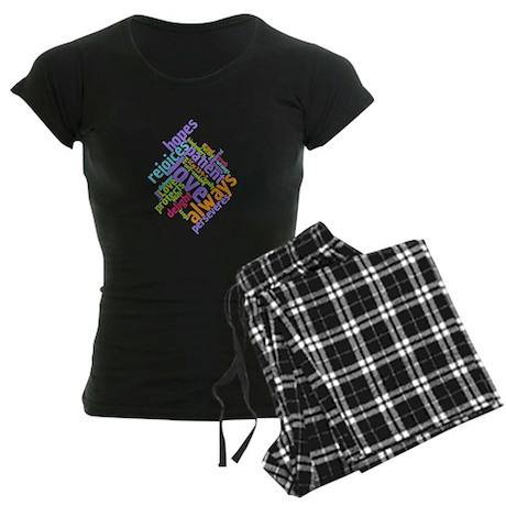 Love Never Fails Women's Dark Pajamas