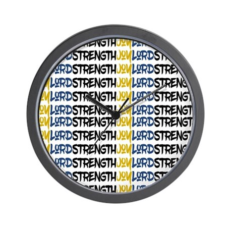 JOY, LORD, STRENGTH WALL CLOCK