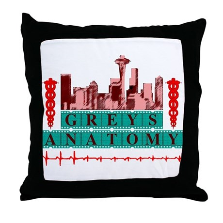 Grey's Anatomy Throw Pillow by ParagonArtworks