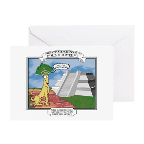 Funny Greyhound Cartoon Greeting Cards   CafePress Greyt Moments Greeting Cards  Pk of 10