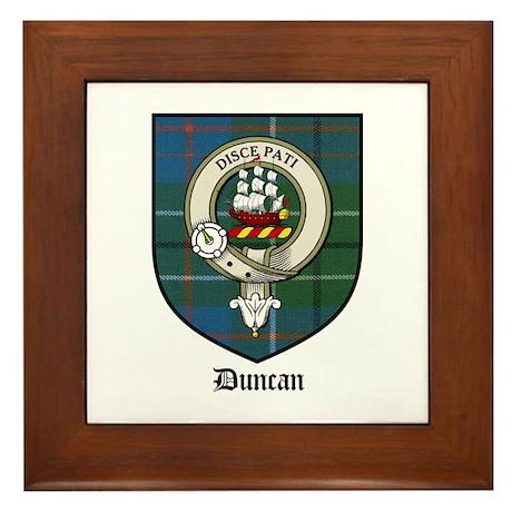 Duncan Clan Crest Tartan Framed Tile By Coatofarmscrest