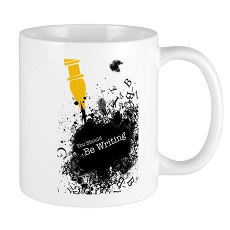 You should be writing (pen) Mug by Serendipity_UK