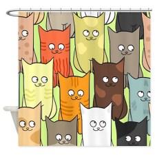 Cute Cats cartoon pattern Shower Curtain