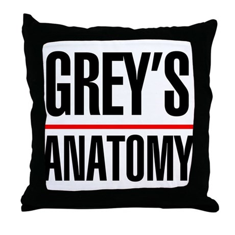 Greys Anatomy Throw Pillow by mediafanclub