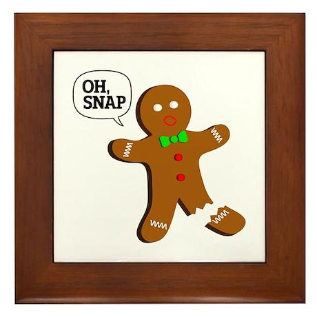 Gingerbread Man Oh Snap Wall Art CafePress