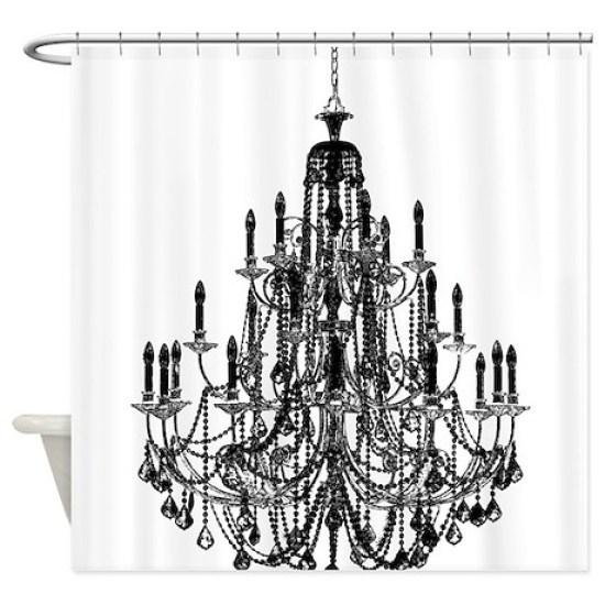 Vintage Chandelier Shower Curtain