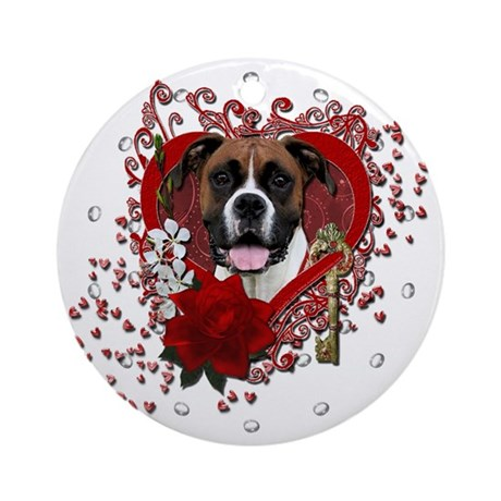 Valentines Key To My Heart Ornament Round By